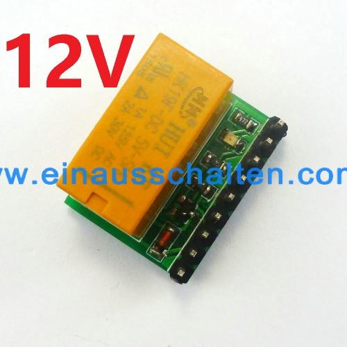 DC 12V DPDT Signal Relais Platine Board Dual Kannal Wahlschalter ...