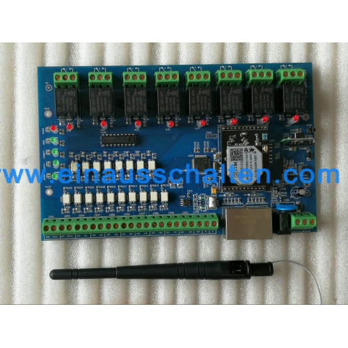 PC/Android/IOS app control wifi relay board with 2* rj45 port