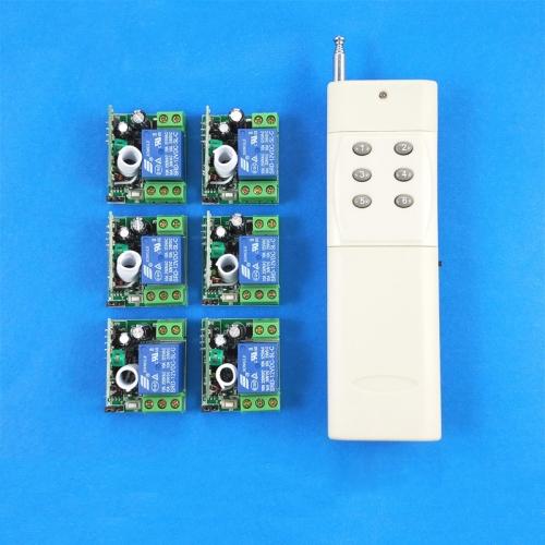 NEU 6-Kanäle Funkfernsteuerung Funkschalter über Funk Empfänger ...