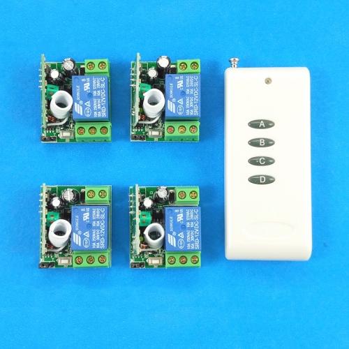 4CH DC Funkfernbedienung Set Funksender mit Funkempfänger 4 Kontrolle Modus