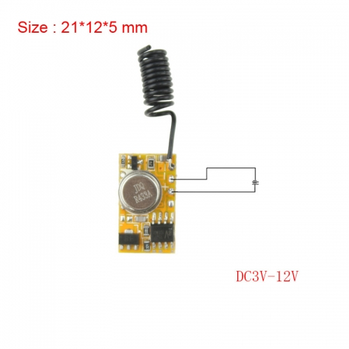 Micro Fernbedienung DC3V-12V RF Wireless Fernbedienung PCB 3V 3.6V 3.7V 4.5V 5V 6V 9V 12V Power ON Sender 315/433 RC TX 1CH