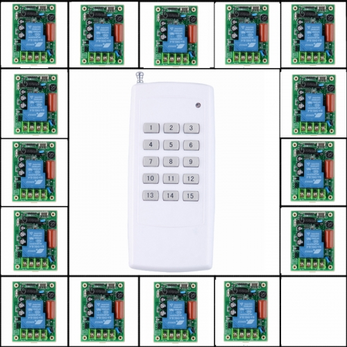 AC 230V 15 Kanal 30A Funkfernbedienung Relaisschalter Fernschalter ...