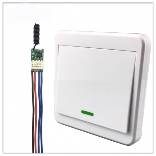 ZOUCY Relais Drahtlose Schalter Fernbedienung DC3V 3,7 V 5 V 6 V 7 V 9 V 12 V Mini Power LED Lampe Controller Micro Empf/änger Sender System 433 MHz