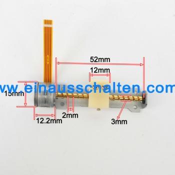 10Pcs 3-6V Dc 2 Phase 4 Draht Schrittmotor mit Mutter ideal für ...