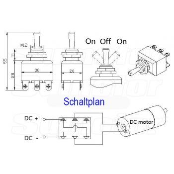 15A 250V Kippschalter manuelle Schalter Motorregler, Wippschalter, 6 ...