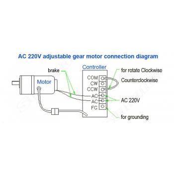 6W AC 230V Einstellbarer Motor mit regler 50 / 60HZ hoher Drehzahl ...