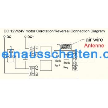 1 Kanal Motorsteuerung DC Elektrische Funk Motor Controller [0255011 ...