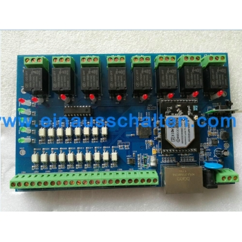 PC/Android/IOS app control wifi relay board with 2* rj45