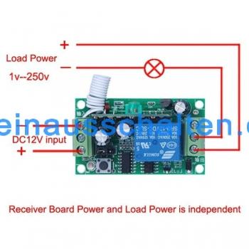 3000m Long Range Remote Control Switch DC 12V 1 CH 10A Relay