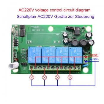 AC 110V 220V 4CH Wide Volt 85V ~ 250V Relais schalter mit ...